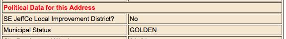 Example address wizard municipal status